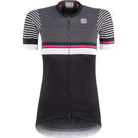 Sportful Diva 2 Jersey Donna, black/white/bubble gum
